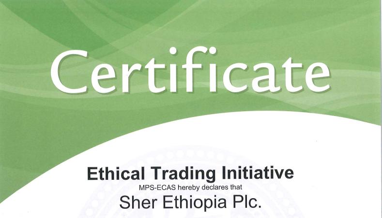 , Afriflora Sher MPS ECAS certified