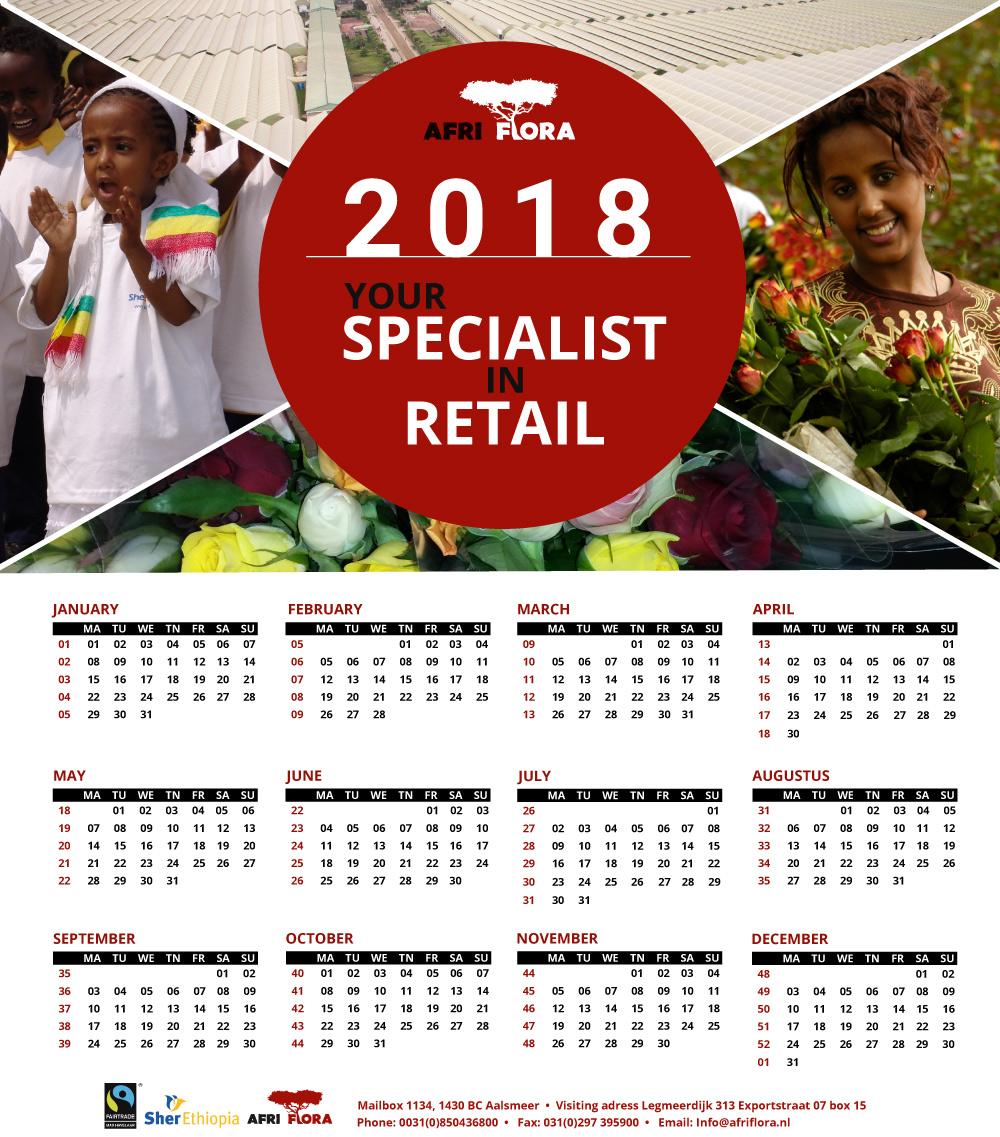 Afriflora Sher kalender 2018